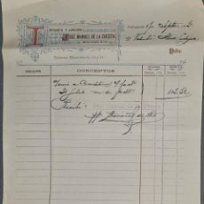 Facturas antiguas: FACTURA. JOSÉ MANUEL DE LA CUESTA. IMPRENTA Y LIBRERÍA. VALLADOLID. ESPAÑA 1902. Lote 262327580