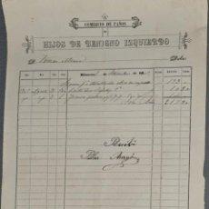 Facturas antiguas: FACTURA. HIJOS DE BENIGNO IZQUIERDO. COMERCIO DE PAÑOS. RÍOSECO. ESPAÑA 1905. Lote 262327610