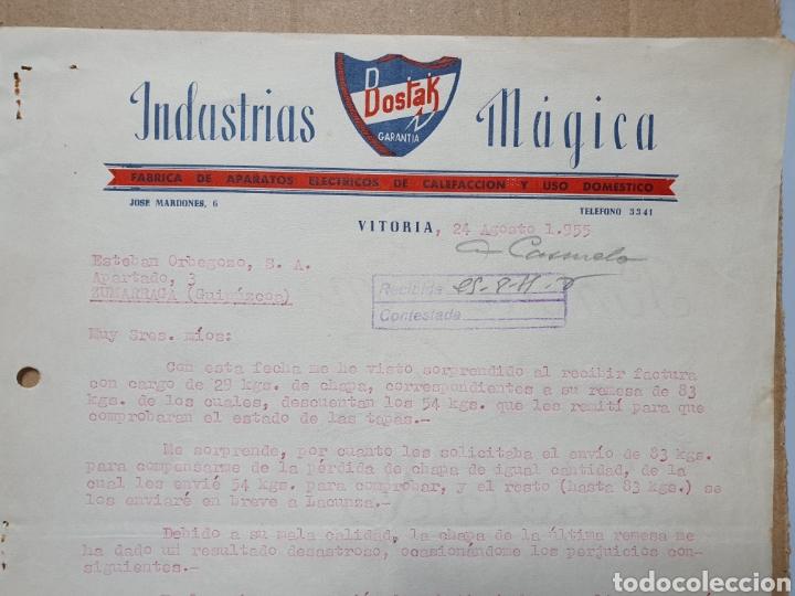 INDUSTRIAS MUGICA. BOSTAK. VITORIA. FACTURA 1955. (Coleccionismo - Documentos - Facturas Antiguas)