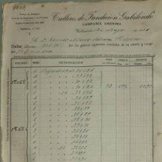 Facturas antiguas: FACTURA. TALLERES DE FUNDICIÓN GABILONDO. VALLADOLID. ESPAÑA 1921. Lote 262385630