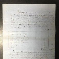 Faturas antigas: MADRID , FACTURA ANTIGUA DE 1861 , GÓMEZ HERMANOS Y LARRIVETTE .. Lote 262583380