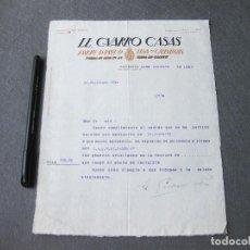 Facturas antiguas: FACTURA DE LL GUARRO CASAS. FÁBRICA DE PAPEL, DE TINTA Y CARTULINAS. BARCELONA 1932. Lote 262951620