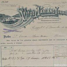 Factures anciennes: FACTURA. VDA. DE MARIANO YURRITA. ALMACENES DE FERRETERÍA. PASAJES. GUIPÚZCOA. ESPAÑA 1919. Lote 263073700
