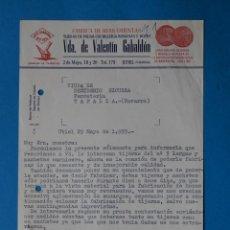 Factures anciennes: ANTIGUA FACTURA:FABRICA DE HERRAMIENTAS. VDA DE VALENTIN GABALDON. UTIEL ( VALENCIA). AÑO 1959. Lote 264171436