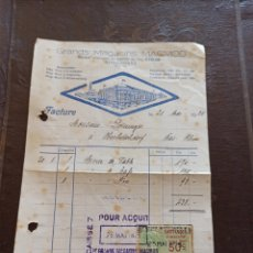 Facturas antiguas: FACTURA 1925 GRANDS MAGASINS MAGMOD FRANCIA. Lote 266278323
