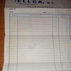 Facturas antiguas: 2 PRESUPUESTOS DE DECORACIONES TELLCA S.L DE VILLARREAL DE 1973. Lote 266327718