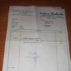 Facturas antiguas: FACTURA ALBARAN DE TALLERES CABEDO DE VILLARREAL DE 1979. Lote 266329598