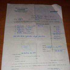 Facturas antiguas: FACTURA PEDIDO DE AGRICOLA INDUSTRIAL CABEDO DE VILLARREAL DE 1976. Lote 266330033