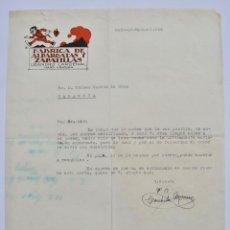 Fatture antiche: FACTURA COMERCIAL. FÁBRICA DE ALPARGATAS Y ZAPATILLAS. LEANDRO CARDENAL. HARO, RIOJA. MARZO, 1943. Lote 268590099