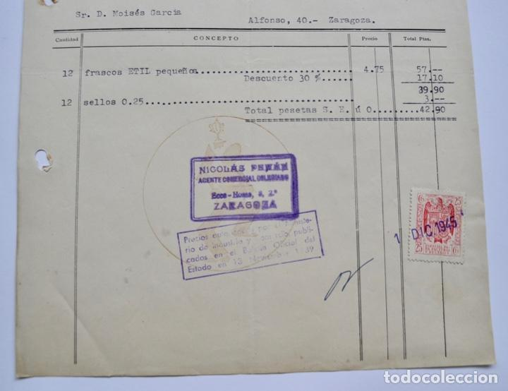 Facturas antiguas: Factura Comercial. Productos Radiplata Ciuró. Casa Fundada en 1917. Barcelona, 1945 - Foto 4 - 268617074