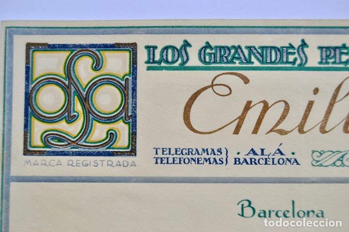 Facturas antiguas: Factura Comercial. Emilio Alá. Los Grandes Perfumes de Francia. Barcelona, 1927. Perfumería - Foto 3 - 268618479