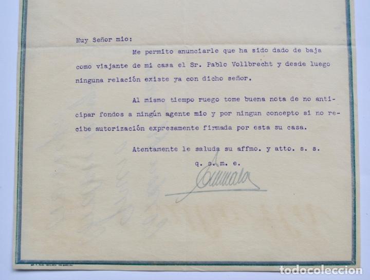 Facturas antiguas: Factura Comercial. Emilio Alá. Los Grandes Perfumes de Francia. Barcelona, 1927. Perfumería - Foto 4 - 268618479