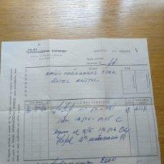 Facturas antiguas: FACTURA VIAJES INTERNACIONAL EXPRESO 1960. Lote 268978199