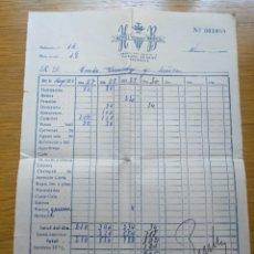 Facturas antiguas: FACTURA HOTEL BRISTOL DE VALENCIA 1960. Lote 268978374