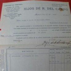 Facturas antiguas: MADRID ALMACEN DE FERRETERIA HIJOS DE R. DEL CAMPO FACTURA 1930. Lote 275903813