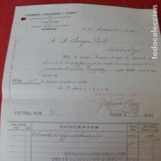 Facturas antiguas: CORDOBA COSECHERO DE ACEITUNAS TORRENT CAPARRÓS Y CIA FACTURA 1920. Lote 275906463