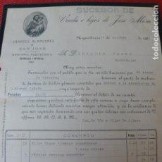 Facturas antiguas: MIGUELTURRA CIUDAD REAL ALMACENES DE SAN JOSE FACTURA 1923. Lote 275911003
