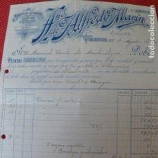 Facturas antiguas: VALENCIA FABRICA DE GORRAS HERMANO DE ALFREDO MARIN FACTURA 1923. Lote 275947813