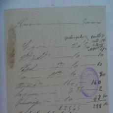 Facturas antiguas: ANTIGUA FACTURA MANUSCRITA DE NOTARIO D. MARIANO DE LA SOTA . SEVILLA, 1911. Lote 277129558