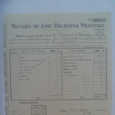 Facturas antiguas: FACTURA DE NOTARIA DE JOSE BALBUENA . SEVILLA, 1933. Lote 277272553