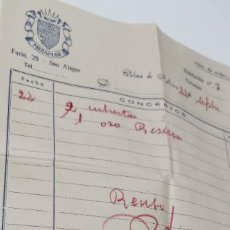 Facturas antiguas: FACTURA RESIDENCIA MIRAMAR PALMA DE MALLORCA AÑO 1951. Lote 277504348
