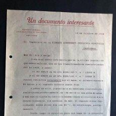 Facturas antiguas: UNIÓN ELECTRICA DE CARTAGENA / AÑO 1919 / UN DOCUMENTO INTERESANTE / MURCIA. Lote 277527793