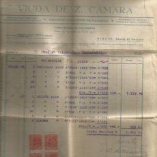 Facturas antiguas: DOCUMENTO FACTURA VIUDAD DE Z. CAMARA GRANDES ALMACENES DE MADERAS VALLADOLID. Lote 278755098