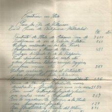 Facturas antiguas: DOCUMENTO FACTURA MARIANO GARRIDO EL PINAR DE ANTEQUERA (VALLADOLID) 1942. Lote 278759503