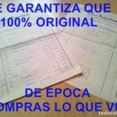 Facturas antiguas: SANLUCAR DE BARRAMEDA CASA PRIMITIVO SEVILLA FACTURAS EMPRESARIO TAURINO 1960 E32. Lote 278804818