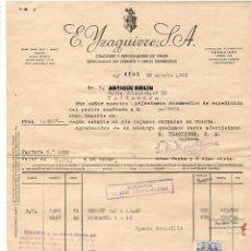 Facturas antiguas: REUS / FACTURA E. YZAGUIRRE, S.A. ESPECIALIDAD EN VERMUTS Y VINOS GENEROSOS 1959. Lote 279362718