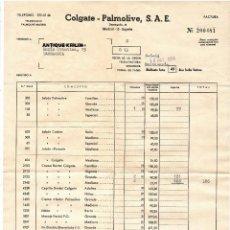 Facturas antiguas: FACTURA COLGATE - PALMOLIVE 1964. Lote 279369608