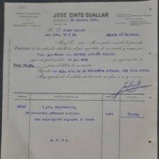 Factures anciennes: JOSÉ CINTO GUALLAR. AGENTE COMERCIAL- COMISIONÍSTA. MADRID. ESPAÑA 1927. Lote 282594528