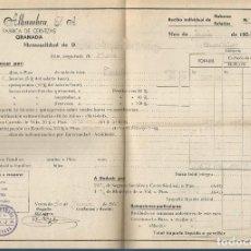 Factures anciennes: NOMINA FABRICA DE CERVEZAS LA ALHAMBRA GRANADA 30 JUNIO 1955. Lote 287131383