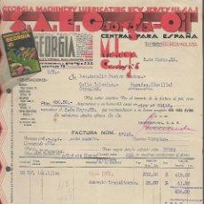 Facturas antiguas: MALAGA,- S.A.E. GEORGIA-OIL, -PARADAS- SEVILLA- FACTURA- VER FOTO. Lote 287211363
