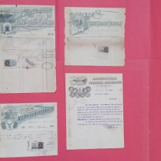 Facturas antiguas: JUAN DE DIOS ORTINEZ.-VIUDA PEDRO VENTOSA.-VIUDA DE ROVIRA.-MANUFACTURAS COLOMER.-FACTURAS.-1898-30.. Lote 292220858