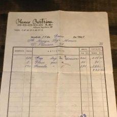 Facturas antiguas: FACTURA DE COMPRA DE TELA DEL AÑO 1969. Lote 292385898