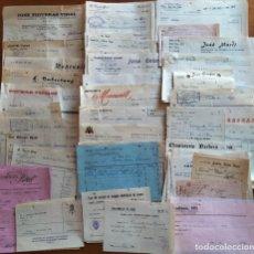 Facturas antiguas: VALLS - TARRAGONA. LOTE DE 60 FACTURAS DE 1971-72.. Lote 293235788