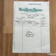 Facturas antiguas: ANTIGUA FACTURA GRAN HOTEL EUROPA REUS 1925. Lote 293570143