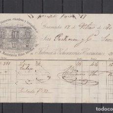 Facturas antiguas: ,,,FACTURA DE 1634 RVON DE FABRICA ECHEVARRIA HERMANOS, GRANADA A FÁBRICA LOZA LA CARTUJA. Lote 294101438