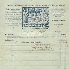 Facturas antiguas: TARRAGONA - FACTURA ANTIGUA - ANGUERA Y PIÑOL - AÑO 1935. Lote 294497308