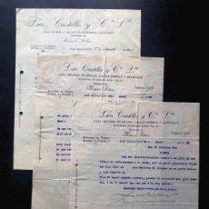 Facturas antiguas: SAN SEBASTIÁN 1929 / LUIS CASTILLO Y CIA / ALMACÉN DE TEJIDOS. Lote 294930963