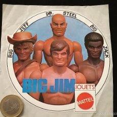 Figuras de acción - Big Jim: ADHESIVO BIG JIM - MATTEL - FRANCIA . Lote 59074380