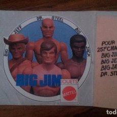Figuras de acción - Big Jim: PEGATINA BIG JIM. MATTEL. Lote 73257243