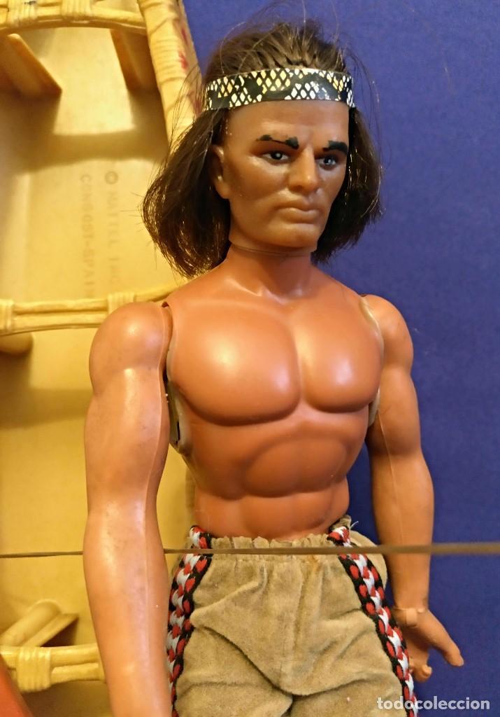 Figuras de acción - Big Jim: Muñeco indio Big Jim Congost de Mattel de los 70. - Foto 3 - 106594819