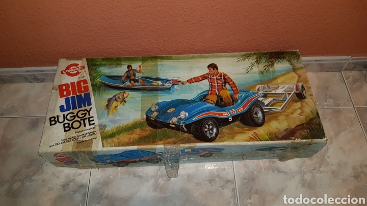 CAJA GRANDE VACÍA DE BIG JIM BUGGY BOTE CONGOST 1975 (Juguetes - Figuras de Acción - Big Jim)