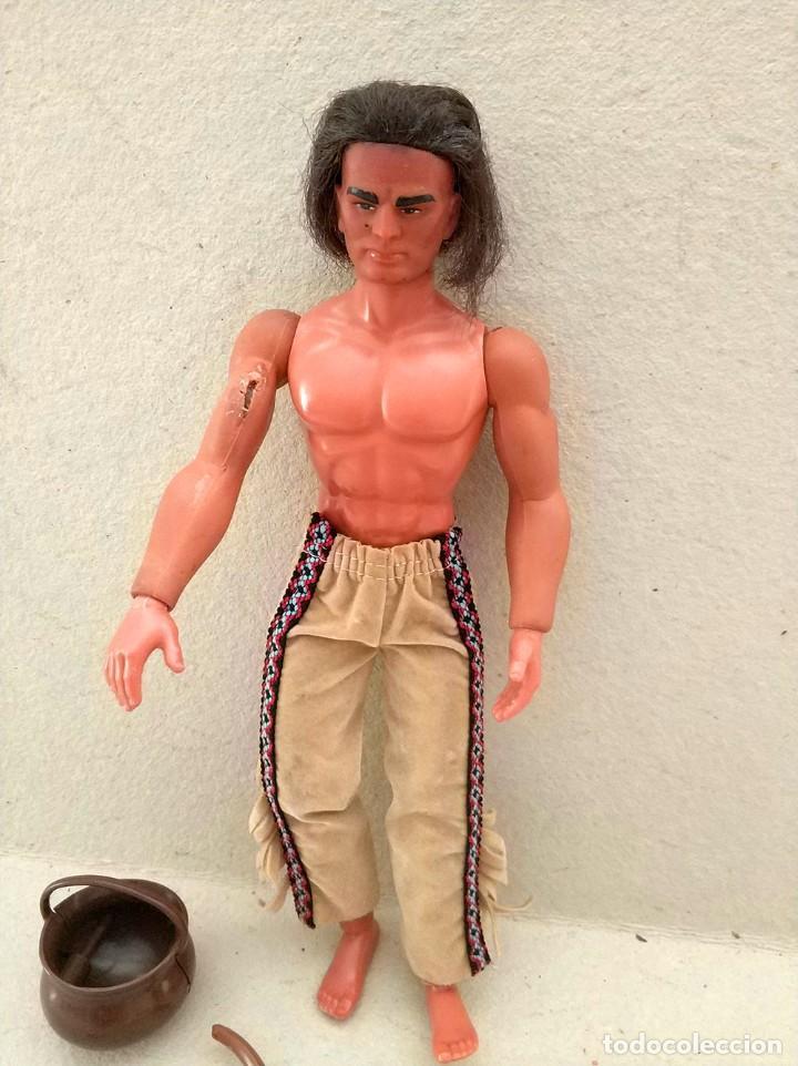 Figuras de acción - Big Jim: Big Jim - Karl May muñeco figura WINNETOU (Geronimo) mattel 1977 vintage - Foto 2 - 150708254