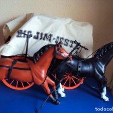 Figuras de acción - Big Jim: (JU-190610)BIG JIM CARAVANA DEL OESTE DE MATTEL - CAJA Y ACCESORIOS. Lote 167491464