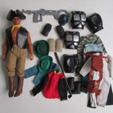 Figuras de acción - Big Jim: BIG JIM PIRATA Y COMPLEMENTOS. Lote 135825682