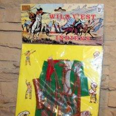 Figuras de acción - Big Jim: WILD WEST INDIENS - TOY TOY - ANTIGUO BLISTER CON CONJUNTO INDIO TIPO BIG JIM, GEYPERMAN - NUEVO. Lote 216744968