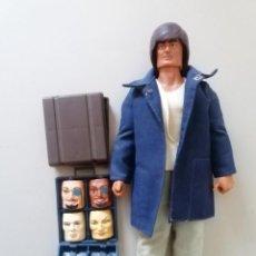 Figuras de acción - Big Jim: IMPRESIONANTE MUÑECO BIG JIM AGENTE SECRETO, DOS MALETINES. Lote 217378050